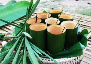 Handmade bamboo cups