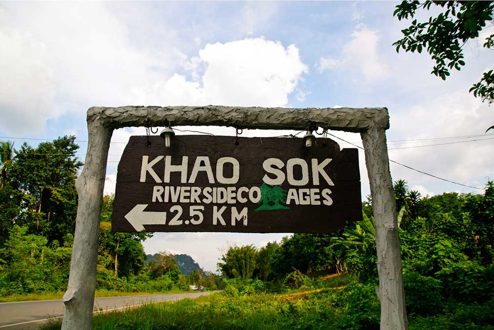 Khao Sok Map Resort Sign