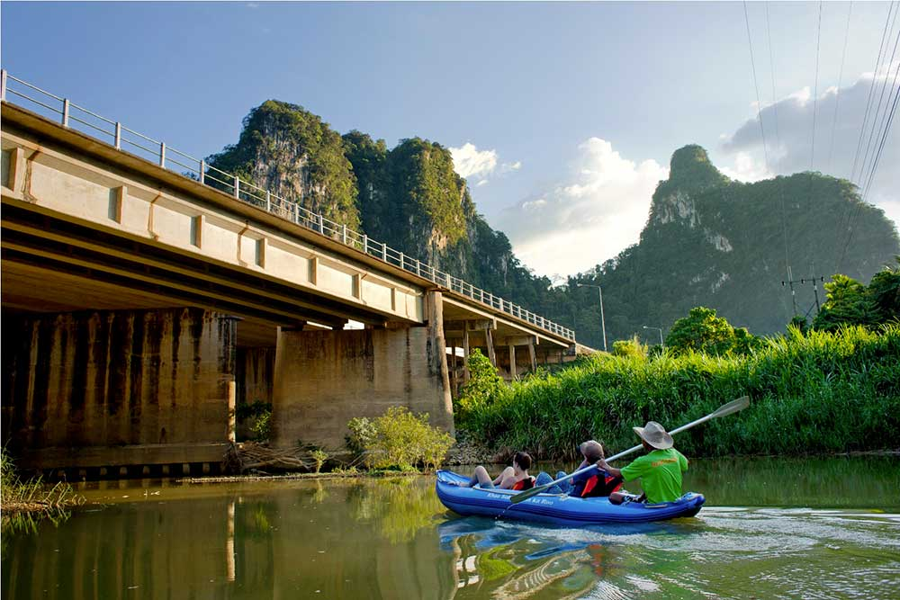 Khao Sok Map bridge