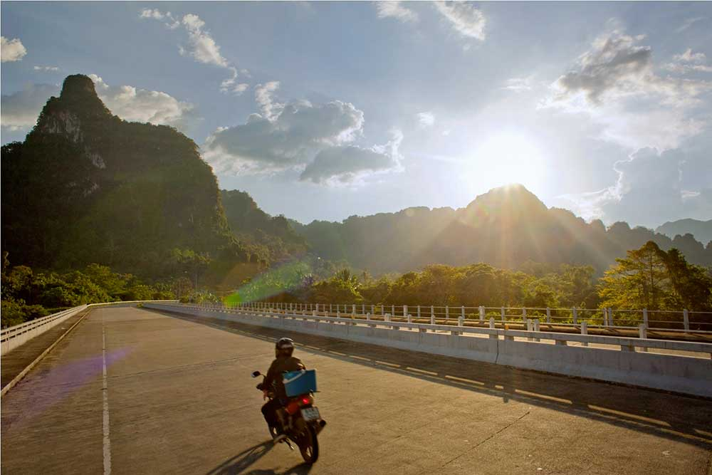 Khao Sok Map motorcycle