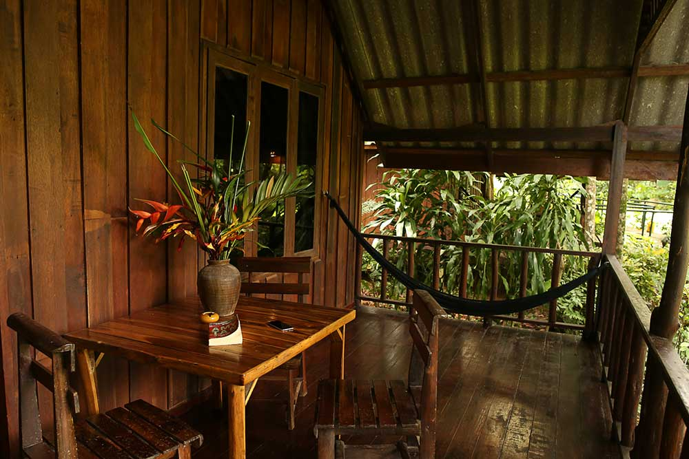 Khao Sok accommodation Riverside Balcony