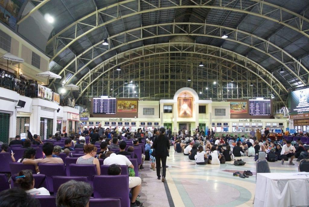 Train from Bangkok to Khao Sok