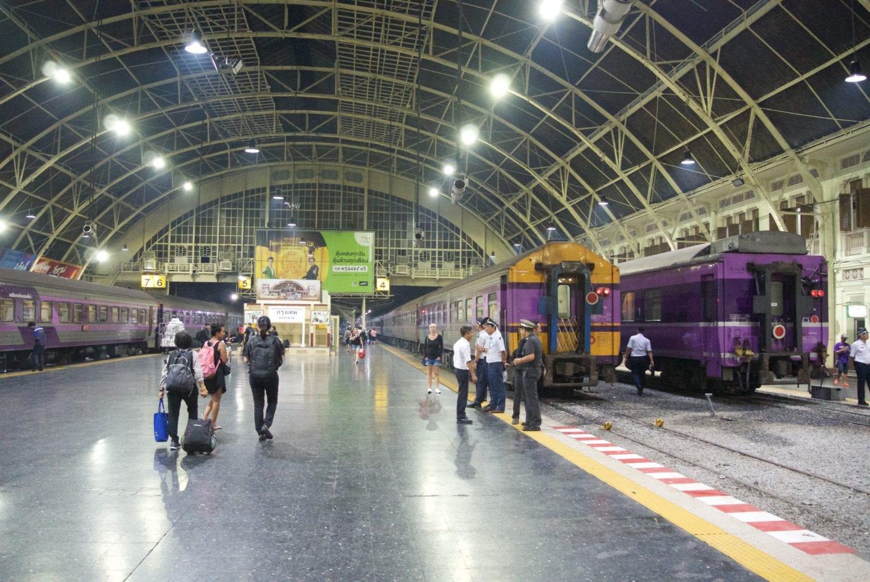 Train from Bangkok to Khao Sok - HuaLampong station