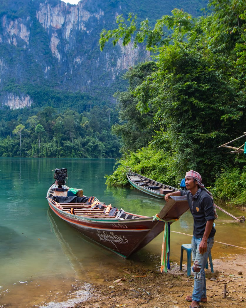 Khao Sok Lake boatman