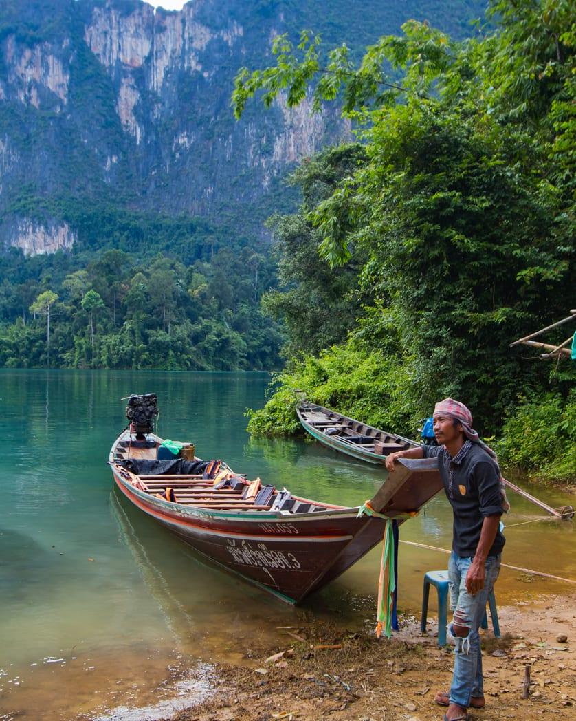 Khao Sok Lake boatman