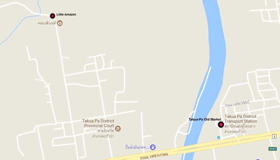 Things to do in Khao Sok map of Takua-Pa