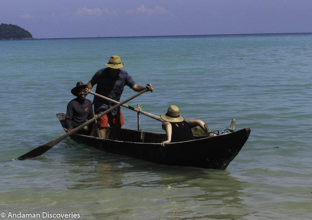 Southern Thailand travel Moken boat