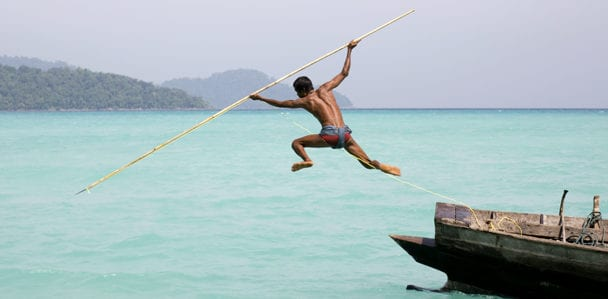 Southern Thailand travel Moken Fisherman