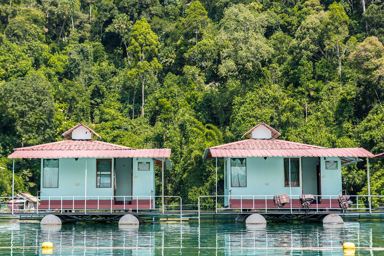 Cheow Lan floating bungalows