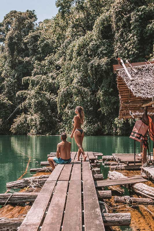 Khao Sok nationalpark floating bungalows