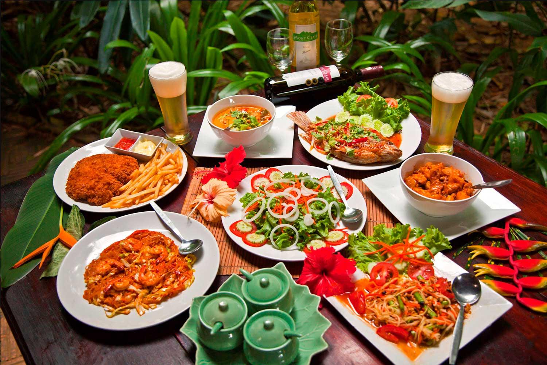 Eating in khao Sok Village