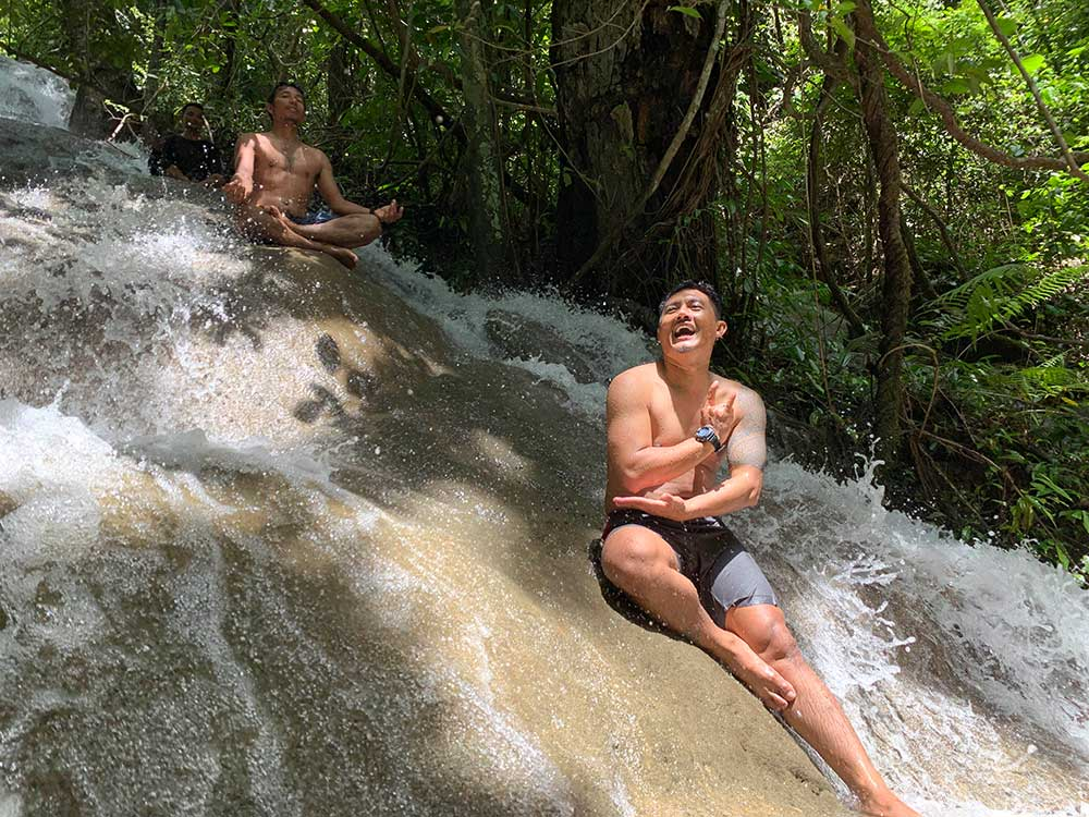Waterfalls are fun