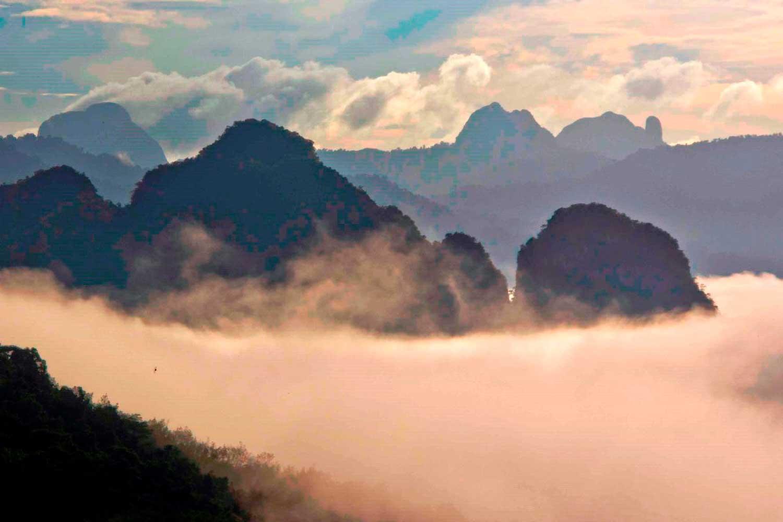 Morning mist over Khao Sok